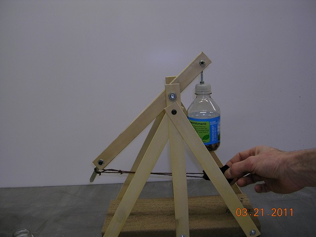 Wood Plans Desktop Trebuchet Blueprints