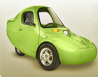 Click To Enlarge Picture Corbin Sparrow Myers Motors 3 Wheel Electric Car